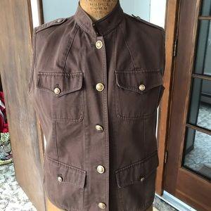 Lauren by Ralph Lauren Military Vest, Cotton